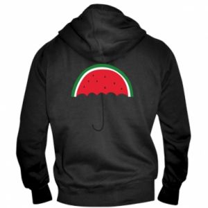 Men's zip up hoodie Watermelon umbrella - PrintSalon