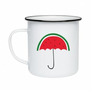 Enameled mug Watermelon umbrella - PrintSalon