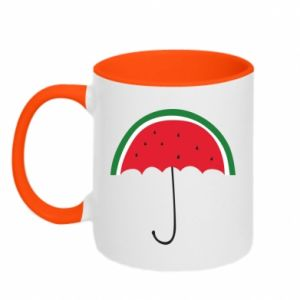 Two-toned mug Watermelon umbrella - PrintSalon