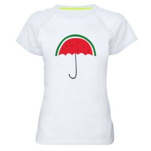 Women's sports t-shirt Watermelon umbrella - PrintSalon