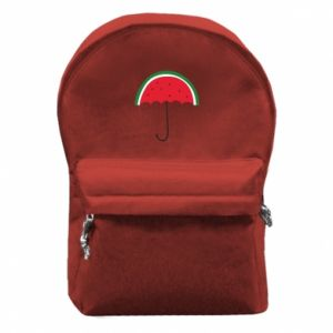 Backpack with front pocket Watermelon umbrella - PrintSalon