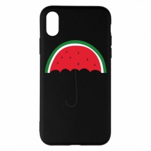 Phone case for iPhone X/Xs Watermelon umbrella - PrintSalon