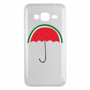 Phone case for Samsung J3 2016 Watermelon umbrella - PrintSalon