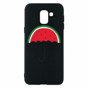 Phone case for Samsung J6 Watermelon umbrella - PrintSalon
