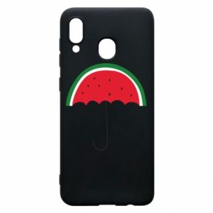 Phone case for Samsung A20 Watermelon umbrella - PrintSalon