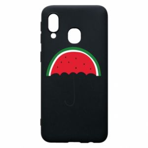 Phone case for Samsung A40 Watermelon umbrella - PrintSalon