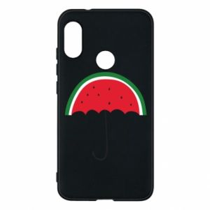 Phone case for Mi A2 Lite Watermelon umbrella - PrintSalon