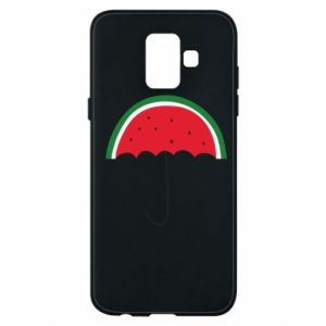 Phone case for Samsung A6 2018 Watermelon umbrella - PrintSalon