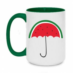 Two-toned mug 450ml Watermelon umbrella