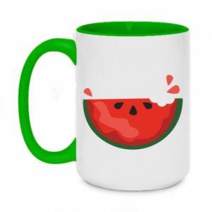Kubek dwukolorowy 450ml Watermelon with a bite