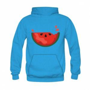 Bluza z kapturem dziecięca Watermelon with a bite