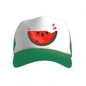 Czapka trucker dziecięca Watermelon with a bite