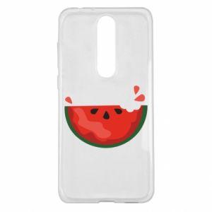Etui na Nokia 5.1 Plus Watermelon with a bite
