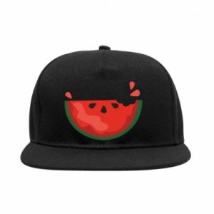 Snapback Watermelon with a bite