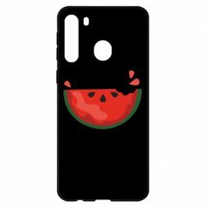 Etui na Samsung A21 Watermelon with a bite
