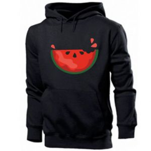 Men's hoodie Watermelon with a bite