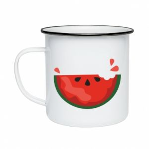 Kubek emaliowany Watermelon with a bite