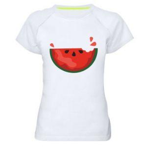 Koszulka sportowa damska Watermelon with a bite
