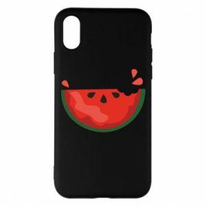 Etui na iPhone X/Xs Watermelon with a bite
