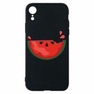 Etui na iPhone XR Watermelon with a bite