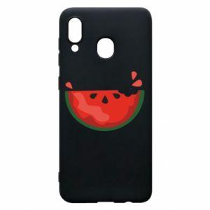 Etui na Samsung A20 Watermelon with a bite