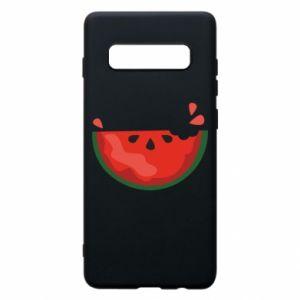 Etui na Samsung S10+ Watermelon with a bite