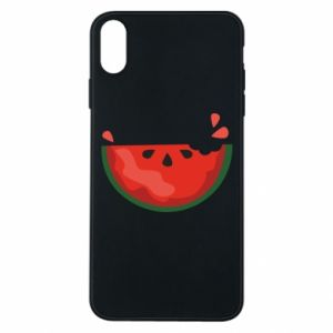 Etui na iPhone Xs Max Watermelon with a bite