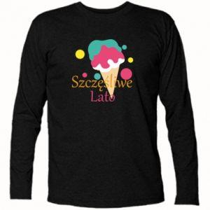 Koszulka z długim rękawem Szczęśliwe lato - PrintSalon