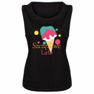 Damska koszulka bez rękawów Szczęśliwe lato