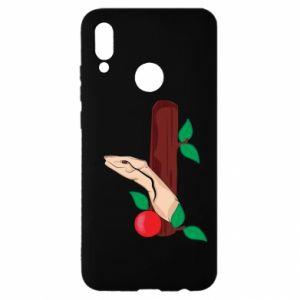 Etui na Huawei P Smart 2019 Wąż i jabłko