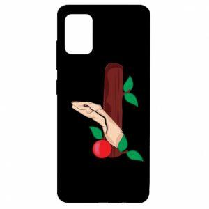 Etui na Samsung A51 Wąż i jabłko