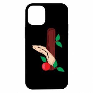 Etui na iPhone 12 Mini Wąż i jabłko