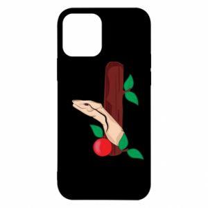 Etui na iPhone 12/12 Pro Wąż i jabłko