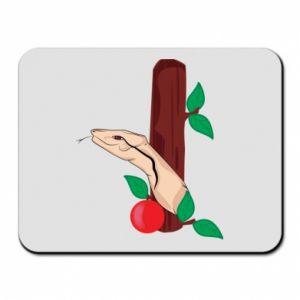 Podkładka pod mysz Wąż i jabłko