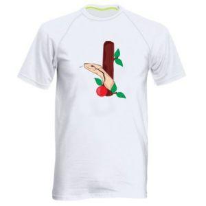 Koszulka sportowa męska Wąż i jabłko