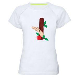 Koszulka sportowa damska Wąż i jabłko
