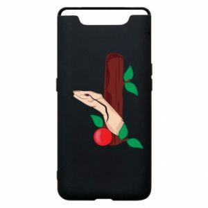 Etui na Samsung A80 Wąż i jabłko