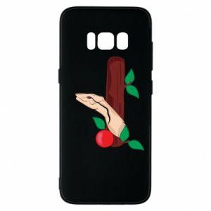 Etui na Samsung S8 Wąż i jabłko