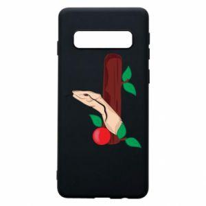 Etui na Samsung S10 Wąż i jabłko