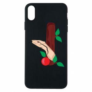 Etui na iPhone Xs Max Wąż i jabłko