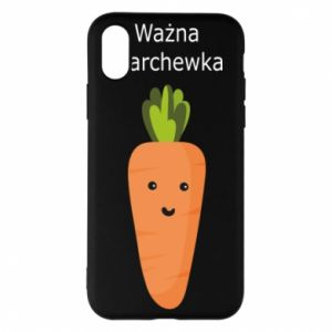Phone case for iPhone X/Xs Important carrot - PrintSalon