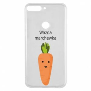 Phone case for Huawei Y7 Prime 2018 Important carrot - PrintSalon