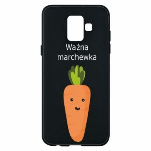 Phone case for Samsung A6 2018 Important carrot - PrintSalon