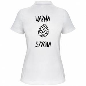 Damska koszulka polo Ważna szycha