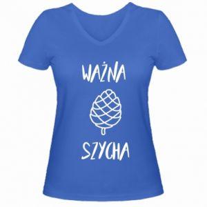 Women's V-neck t-shirt Important chef - PrintSalon