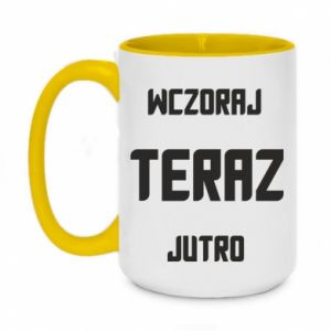 Two-toned mug 450ml Yesterday Today Tomorrow