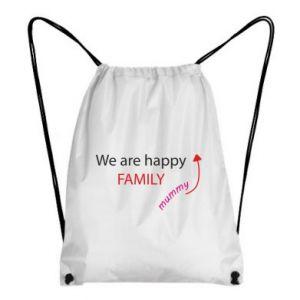 Plecak-worek We are happy family. For Mom