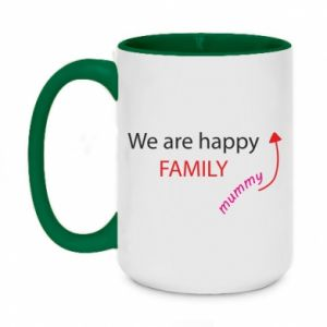 Kubek dwukolorowy 450ml We are happy family. For Mom