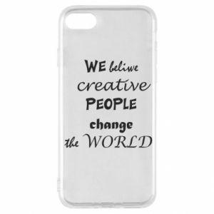 Etui na iPhone SE 2020 We beliwe creative people