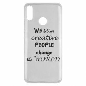 Etui na Huawei Y9 2019 We beliwe creative people